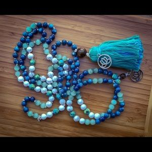 Jewelry - Aurora Borealis Mala Bead Necklace & Bracelet Set